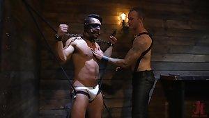 Wild gay fantasy in scenes of male BDSM porn