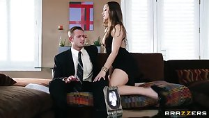 Dani Daniels in the hottest seduction close to heavy cock!