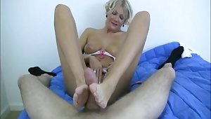 Matured sure likes pleasant the young cadger with footjob