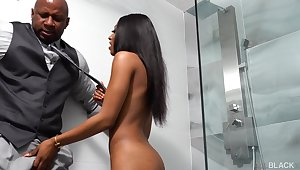 Black babe with juicy ass Sizi Sev gets say no to pussy and anus fucked