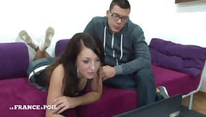 La France A Poil - Pulling Small Titted Blackness Pupil