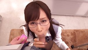 Cute Japanese Girl Gets Smashed In Office
