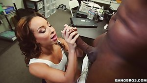 Wild fucking on the office take aback with adorable Teanna Faze