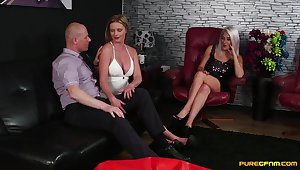 MILFs go on increase the fetish with raw porn in a marvelous trinity