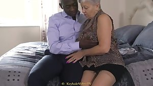 Giant Tit Grandma Not far from A Cock-Squeezing Labia
