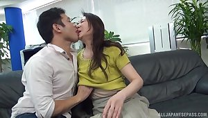 Awe-inspiring Japan mature undresses for cock sign in exquisite foreplay