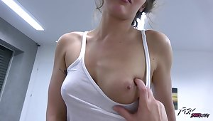 Insolent amateur in homemade POV special on a big dick