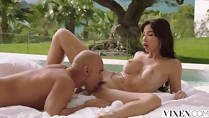 The French way of sensual poolside love making by VIXEN