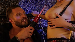 Hardcore fucking with MILF Sandra Luberc ends with cum in mouth