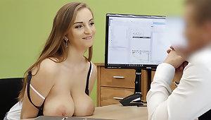 Super-Steamy wifey with fat orbs tempts loan artful