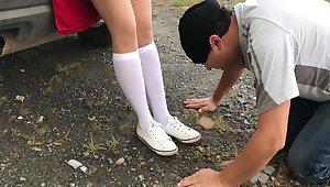Femdome Slave Rendered helpless Quake School Girl Kiss And Sniff Toes Kristinakot