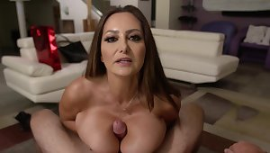 POV video with naughty housewife Ava Addams being fucked hard